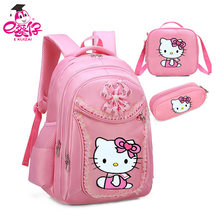 Hello Kitty Girl s School Bags Cartoon Pattern Kid Backpack Children School  Backpack Girl Bag(China f16cffb6e8dd6