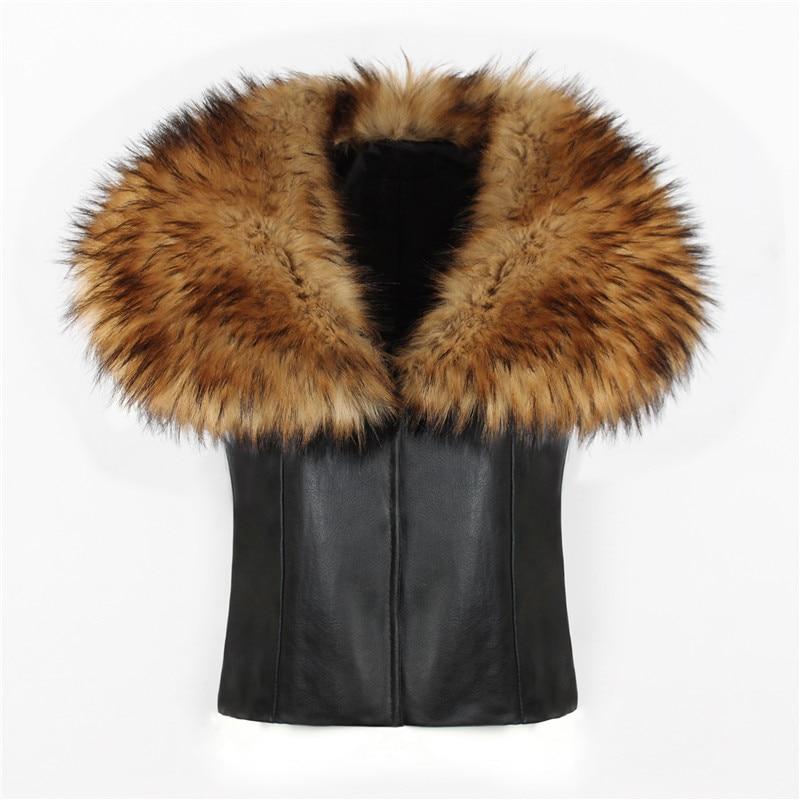2018 spot fashion Europe and America party high-end fox fur faux fur vest elegant elegant fur (4)