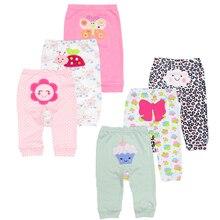 Новая одежда для малышей из хлопка, 3 шт./партия, штаны-шаровары для малышей, штаны для маленьких девочек, леггинсы унисекс со средней талией для новорожденных 3-24 месяцев