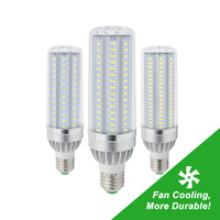 E27 Real Wattage 25W 35W 45W High Power AC 85V 265V LED Lamp 5730 SMD Aluminum Light Bulbs with fan Cooling No Flicker No Strobe