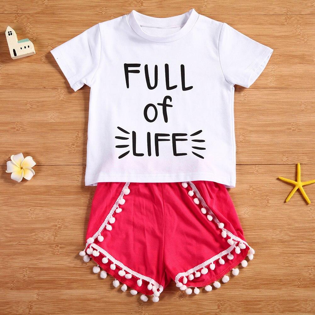 2Pcs Baby Girls Set toddler Uşaqlar Qız Qızları Geyimləri Ağ - Uşaq geyimləri - Fotoqrafiya 3