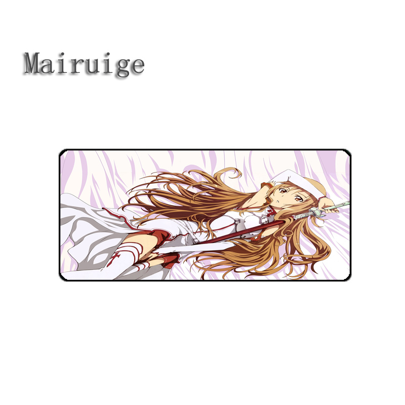 Mairuige Word Art Online Mouse Pad Big Large Size Gaming Mousepad Desk Table Mat Support 11size To Choice Gaming Game Pc Laptop