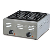 2 plates Fish GRILL Machine Stainless Steel, Commercial Electric Takoyaki Machine , Takoyaki maker