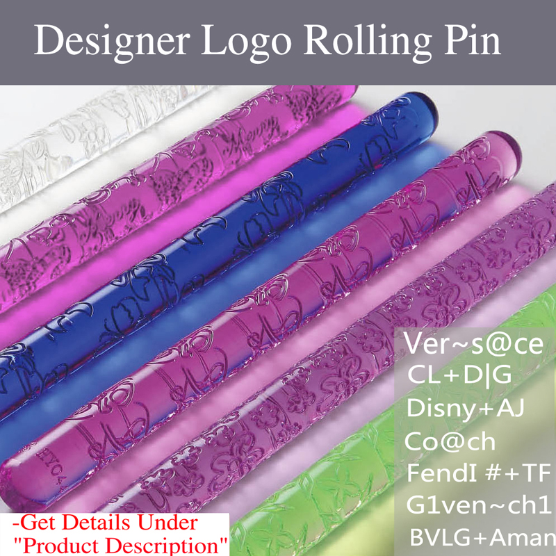 NEW Embossed Rolling Pin 13 Designs Cake Fondant Textured Decorating Craft Tools