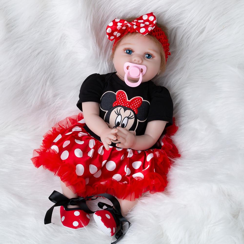 O mais novo Da Menina Brinquedos 55 centímetros Suave Silicone Renascer Bonecas Lol Surpresas Bebê Realista Boneca Reborn Vinil Boneca Reborn Boneca Para meninas