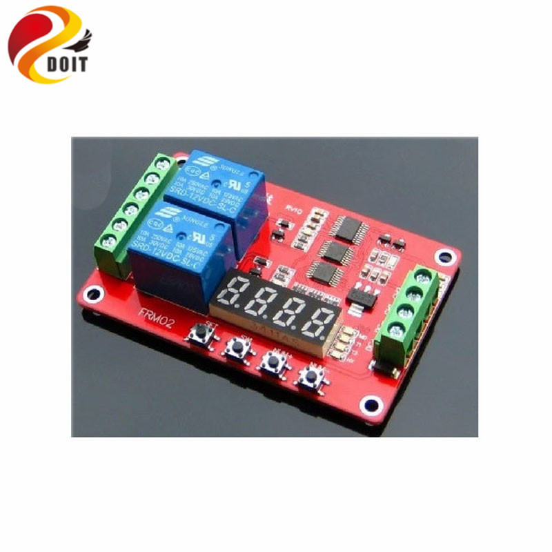 Official DOIT FRM02 Two Way Multi-Function Relay Module Delay Self-Locking Cycle  Robot DIY RC Electronic Toy Robot official doit thermistor relay control module temperature sensor detection switch 5v 12v robot diy rc electronic toy robot