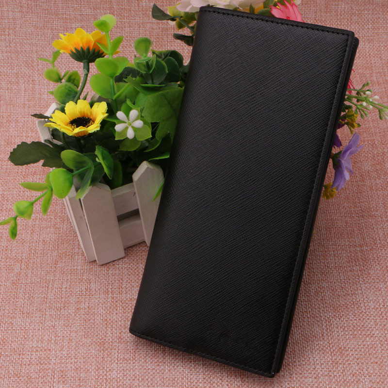 New Fashion Faux Leather Men Small Clutches Slim Long Wallet Bifold ID Card  Money Clip with Passport Holder Purse Solid Male