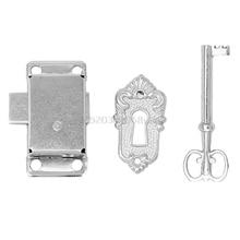 Cerradura clásica de la aleación de la puerta del armario empotrado del cajón + llave # H028 #
