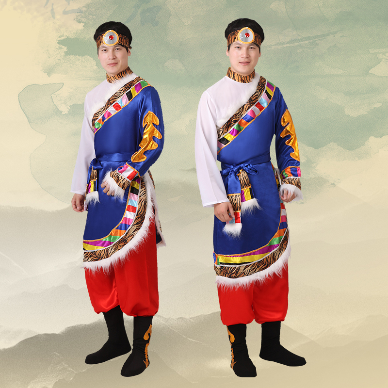 Mongolian costume clothes Chinese folk dance costumes clothing dress stage dance wear performance Mongolian dress DD1952