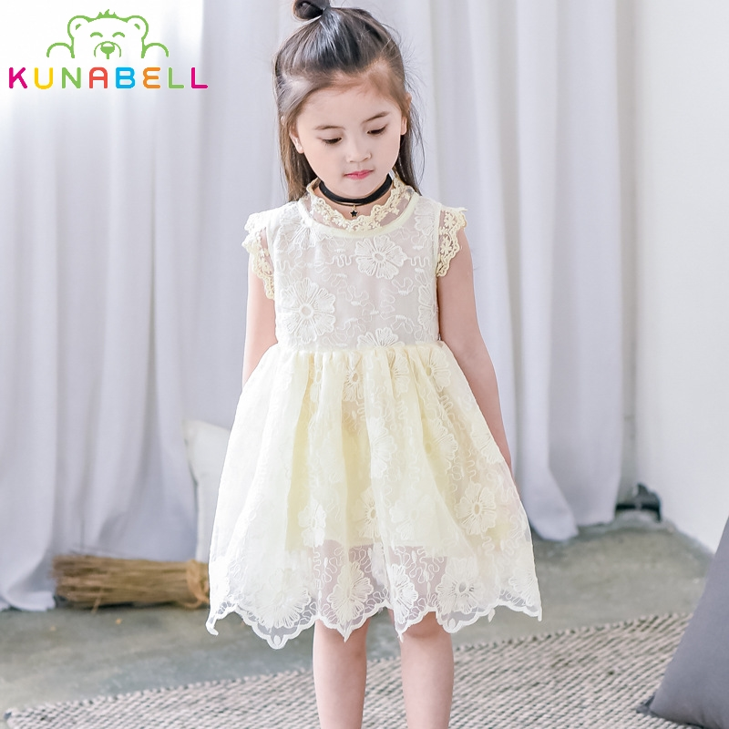 Brand Design Flower Girls Wedding Birthday Party Pageant Lace Dress Infant Tutu Baby Princess Little Girls Vestidos Clothes D23 baby girl infant 3pcs clothing sets tutu romper dress jumpersuit one or two yrs old bebe party birthday suit costumes vestidos