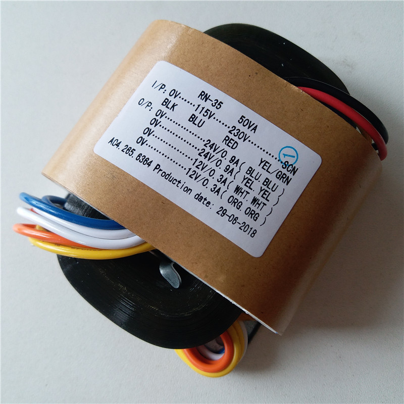 2*24V 0.9A 2*12V 0.3A R Core Transformer 50VA transformer 115-230V input DAC tube Headphone pre-amplifier CD player цена и фото