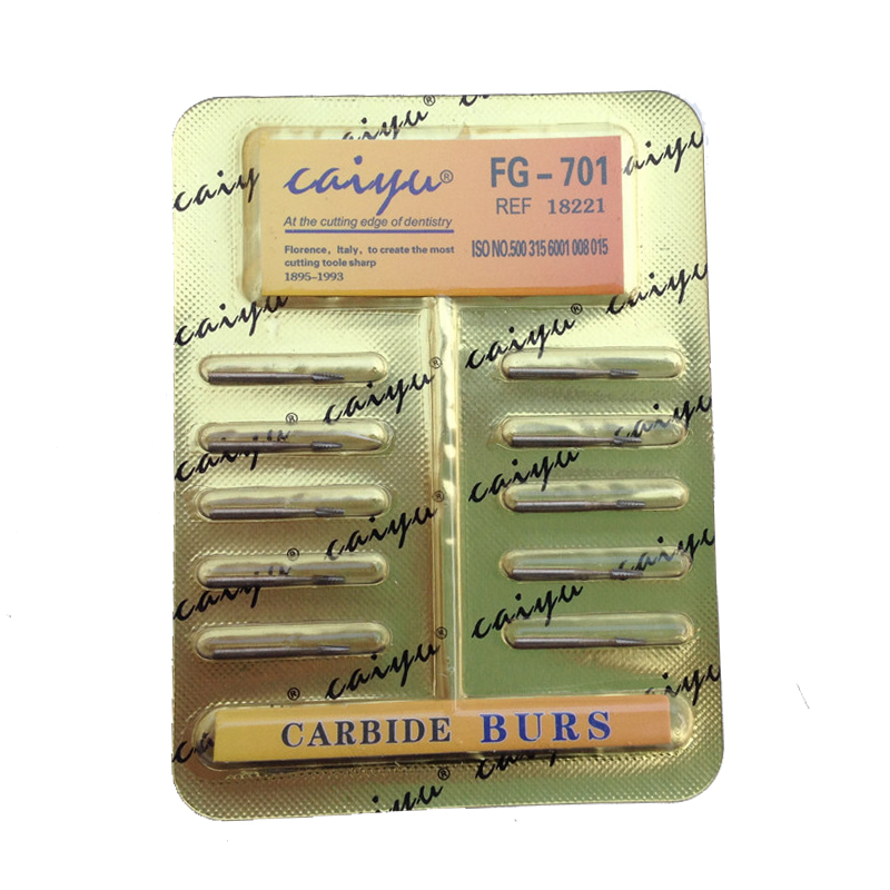 Dental Lab 10 Pieces / Pack Dental Tungsten Steel Carbide Burs For High Speed ​​Håndstykke Bit Free Shipping