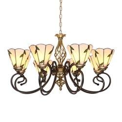Śródziemnomorskim żyrandol oświetlenie nowoczesne kutego żelaza lampy lampa idylliczne w stylu Art Deco lampka do sypialni salon Tiffany żyrandol ze szkła