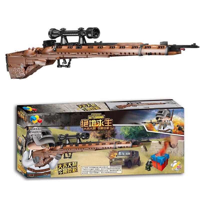 Jeu magique PUBG 98 K bloc de construction jouet pistolets assemblage Transformation pistolet jouet bricolage bloc PUBG Airsoft pistolets à air tir pistolet à pistola