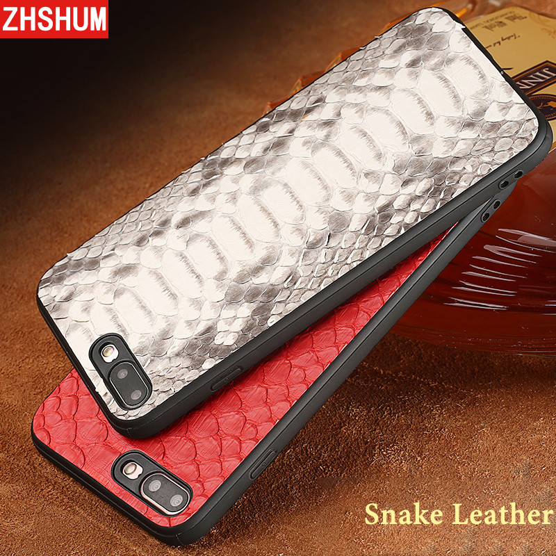 Handmade Genuine Snake Leather Case For Iphone X 8 Plus 7 6S Plus XS MAX XR