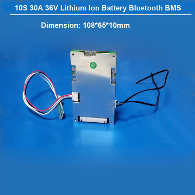 US $38 7 |10S 42V Smart BMS for Lithium Battery Pack Electric bike battery  36V PCB software PCB Board with 30A constant current-in Battery Packs from