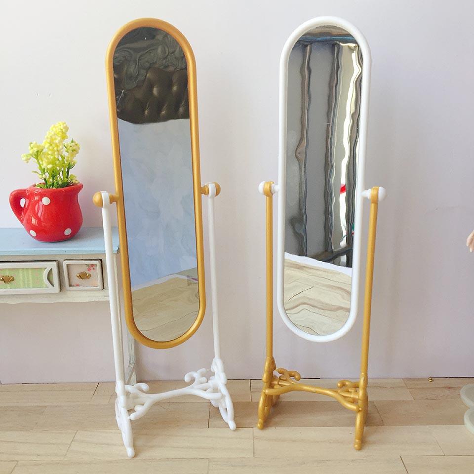 Allaosify BJD Doll Accesories 1/6 1/8 Bjd Full Body Mirror European Mirror Full Body Mirror Doll Furniture Free Shipping