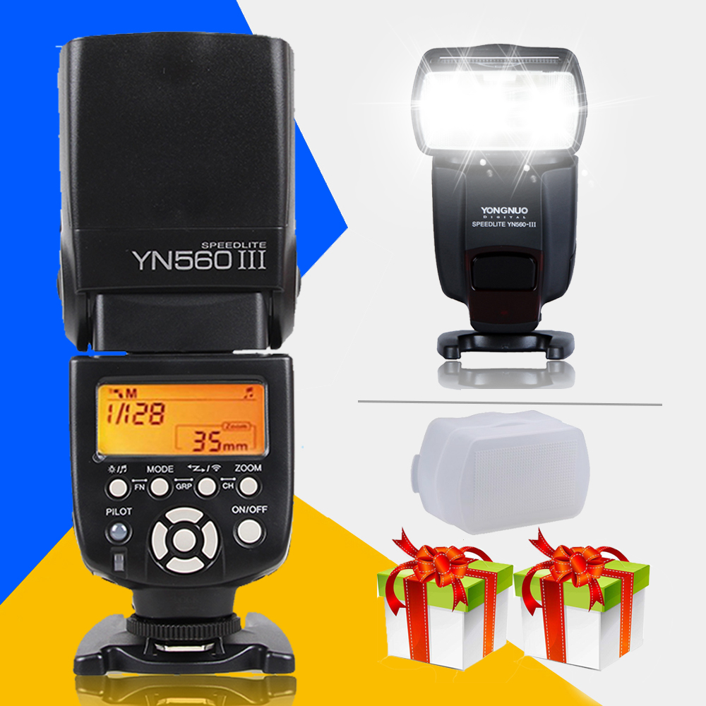 Yongnuo YN560III Universal Flash Speedlite YN-560III YN560 III Wireless Flashlight for Canon Nikon Pentax Olympus Sony Cameras
