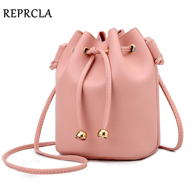 REPRCLA New Small Bucket Bag for Women Fashion Designer Shoulder Bag Crossbody Women Messenger Bags String Ladies Handbag