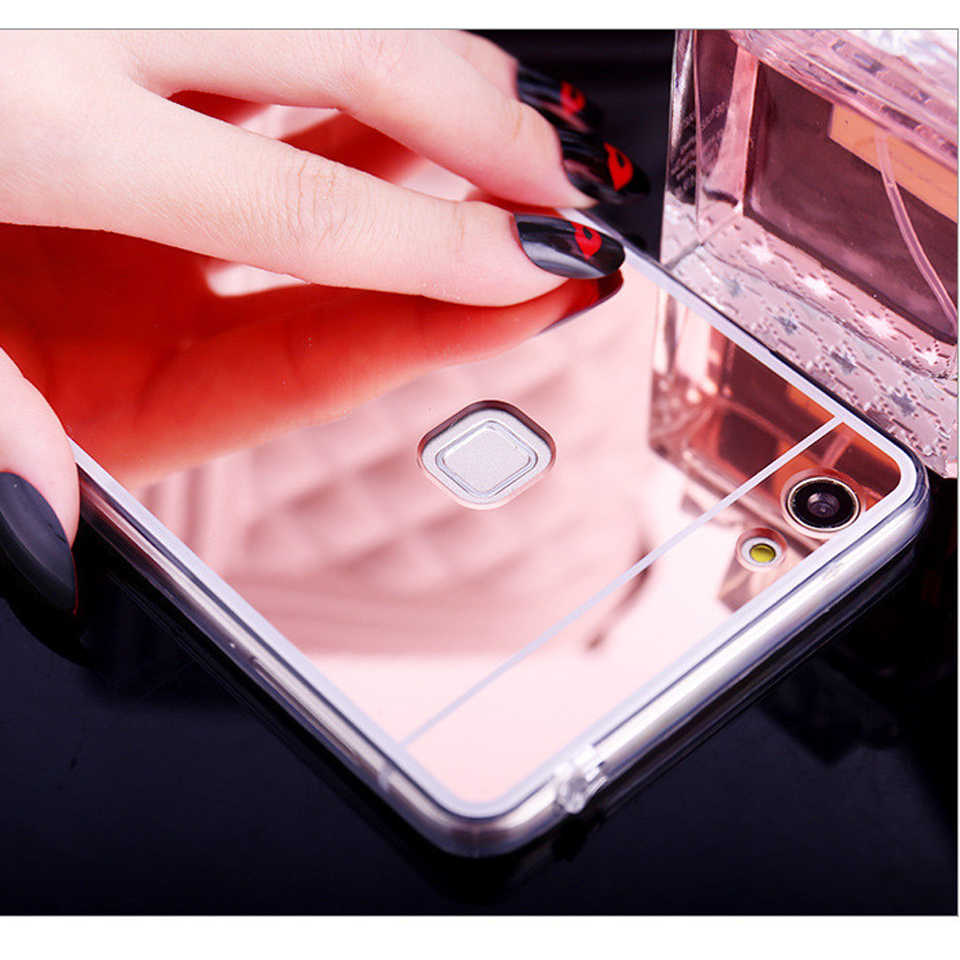 Mirror TPU Case For Huawei P10 Lite P20 P30 Pro Mate 20 10 Nova 3 4 Honor 9 8 8X Y6 Prime Y7 Y9 2018 Play P Smart Shining Cover