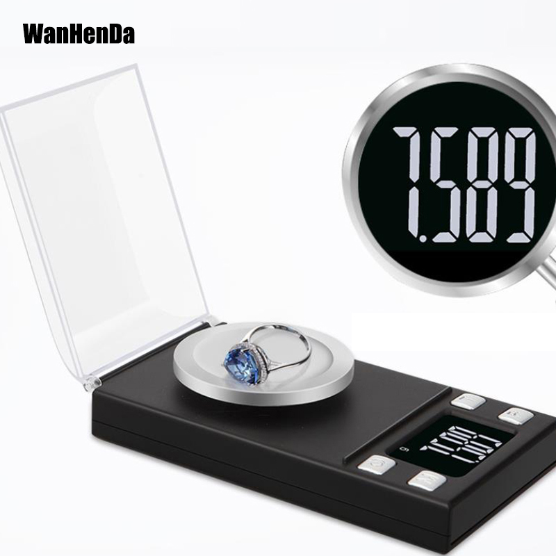 20g/50g/100g 0.001g Electronic Scales LCD Digital Scale Jewelry Medicinal Herbs Portable Lab Weight Milligram Scale