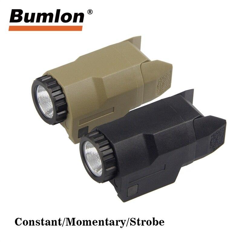 Arme lumière APL-C Mini pistolet lumière constante/momentanée/stroboscope 200 Lumens LED arme blanche montée pour Glock pleine taille HT8-0023