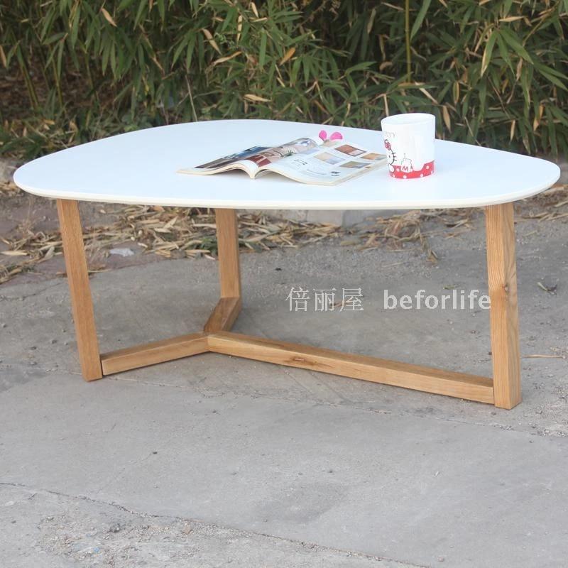 teardrop shaped oval coffee table wood coffee table creative personality small apartment minimalist furniture white oak