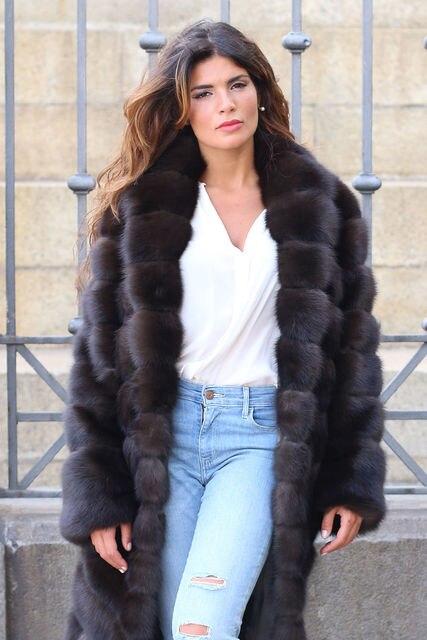 deposit Arlenesain lux x-long russia sable fur women coat  143