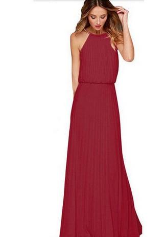 Venta caliente estilo europeo vestido de verano gasa sin mangas - Ropa de mujer - foto 4