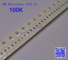 0402 SMD resistor 1 16W 100Kohm 100K 1 0402 Chip resistor 500PCS LOT