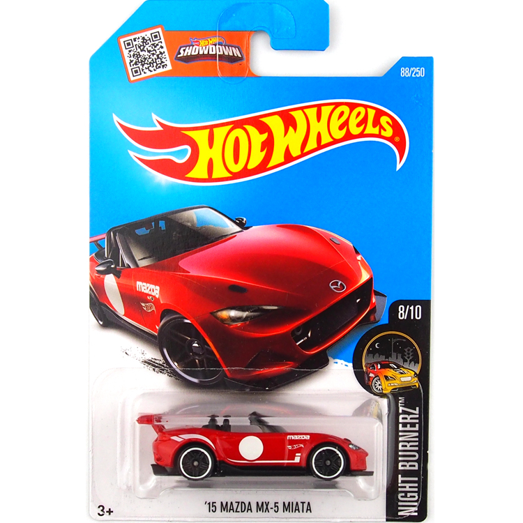 2016 Hot Wheels 1:64 Car 15 MAZDA MX 5 MIATA Collector