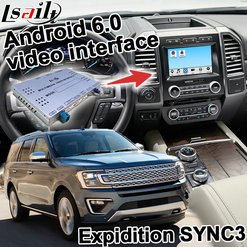 Android navigation box for Ford Expidition F 150 etc SYNC 3 system video interface box Carplay mirror link quad core yandex GPS