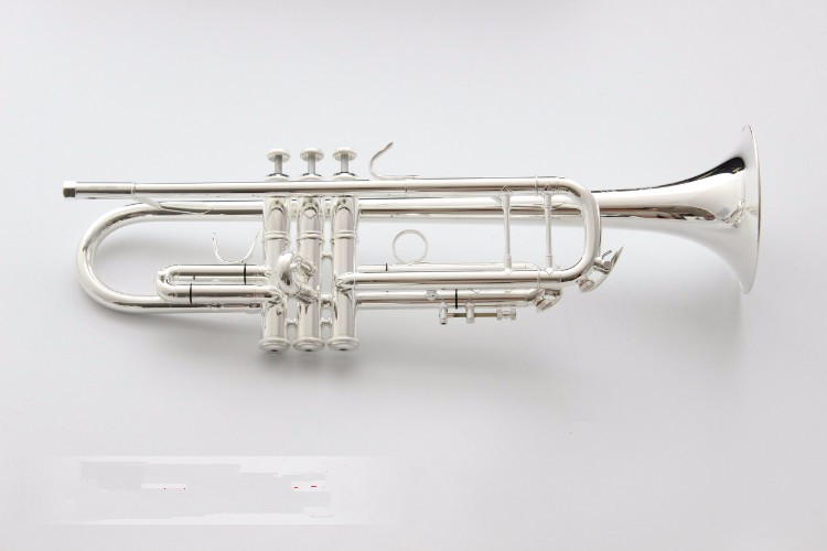 100% Bach LT190S-98 Brand Bb Trumpet Brass Tube Silver Plated Professional Musical Instruments With Case Mouthpiece Accessories купить недорого в Москве