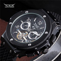 2016 JARAGAR Men Luxury Brand Watch Black Rubber Sport Tourbillion Automatic Mechanical Wristwatch Gift Clock Relogio Releges