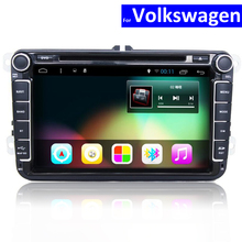 2 Din Car Radio Player with GPS Bluetooth for VW Polo Golf Jetta Passat Touran Sharan Car DVD Android Auto Stereo with WIFI 4G