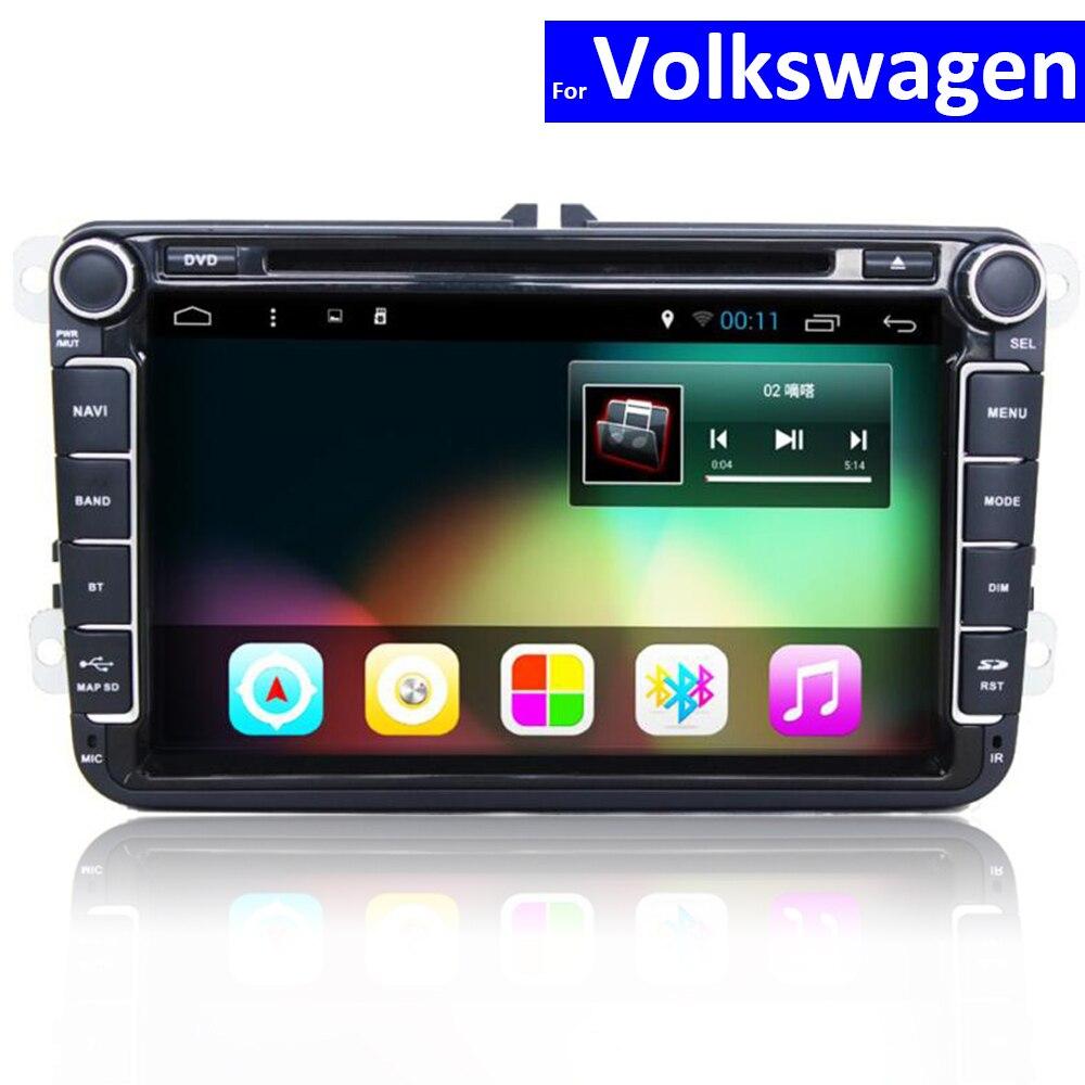 Lecteur Radio 2 Din avec GPS Bluetooth pour VW Polo Golf Jetta Passat Touran Sharan voiture DVD Android Auto stéréo avec WIFI 4G