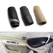 Para chery tiggo 2005 2006 2007 2008 2009 2010 maçaneta da porta do carro painel braço capa de couro microfibra