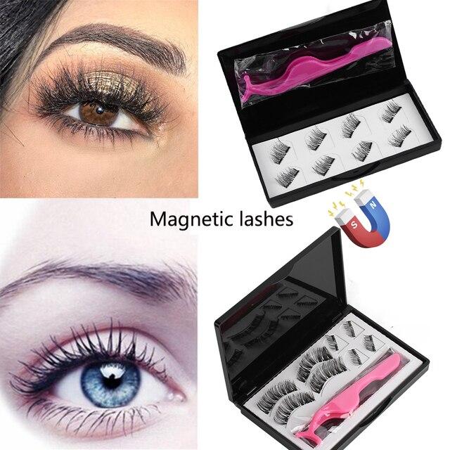 60b244c6a8c 8pc/set Make Up Dual Magnetic False Eyelashes Glue-free Reusable Magnet Fake  Eyelashes