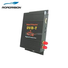 Samochód Tuner tv DVB-T MPEG-4 cyfrowy tv box odbiornik mini Tuner telewizyjny z podwójny Tuner dla europy na bliskim wschodzie australii tanie tanio 12 v VHF-H(174MHz-230MHz) UHF470MHz-862MHz Black TV004 ROADRISION