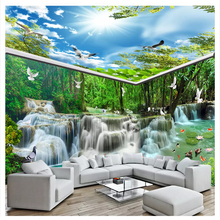 beibehang 3D Interior decoration painting personalized fashion wallpaper marble jade carving Peony art background 3d