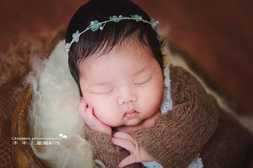 noworodka pałąk fotografia handmade niemowlę Hairbands kwiat - Odzież dla niemowląt - Zdjęcie 3
