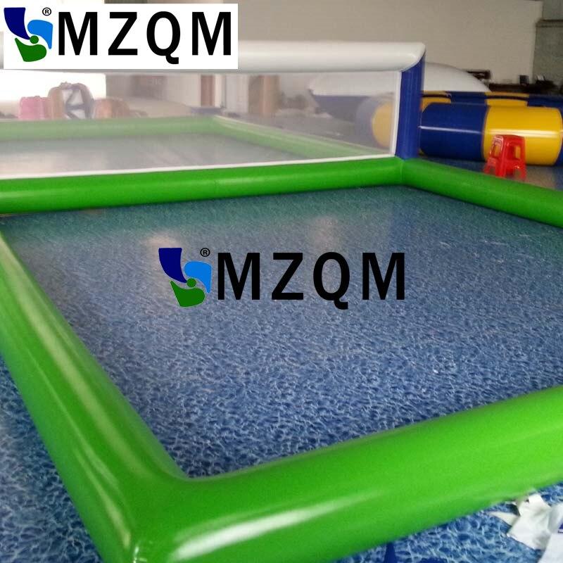 MZQM 8*4 m Gonflable Biggors Eau Équipement de Parc Gonflable Volley-Ball Cour Jeux De Sport À Vendre