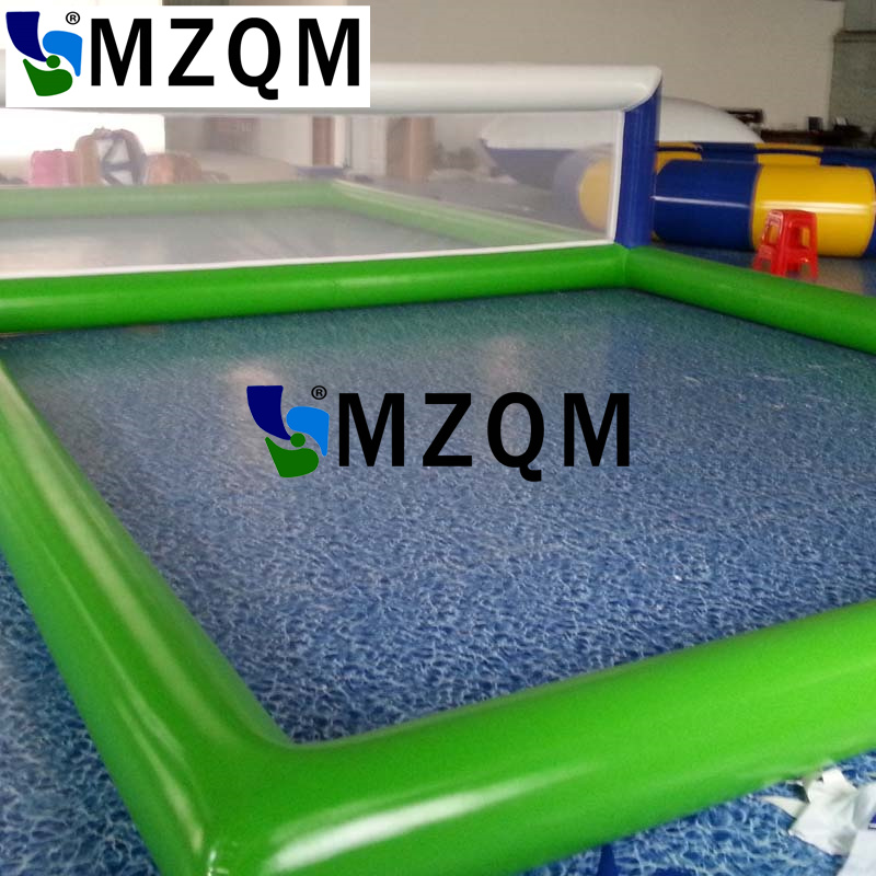 MZQM 8*4m Inflatable Biggors Water Park Equipment Inflatable Volleyball Court Sports Games For Sale