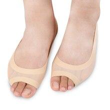 2Pc Hot Women s Socks Open Toe Socks Female toe Slippers Invisible Non slip Set High