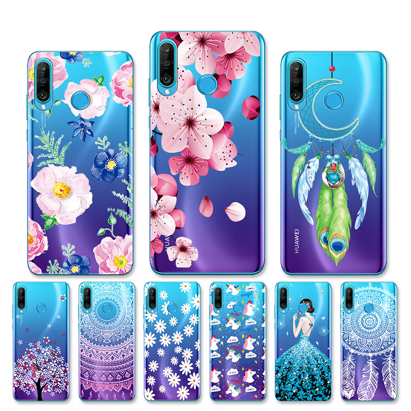 Case for Huawei P30 Pro Case Huawei P30 <font><b>Lite</b></font> Case Silicone Clear TPU Phone Back Cover Huawei P30Pro VOG-L29 ELE-L29 <font><b>P</b></font> <font><b>30</b></font> Case image