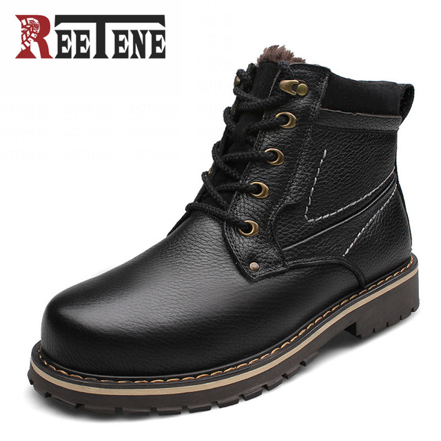 Genuine Laether Ankle Boots Men,High Quality Winter Boots Men,Fashion Warm Ankle Boots For Men,Men Warm Casual Shoes 2016 Bottes