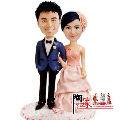 2015 wedding Toys Brinquedos Anime Custom Figurine Wedding Birthday Caketopper Bride And Groom Special Gift So Lovlycustomized
