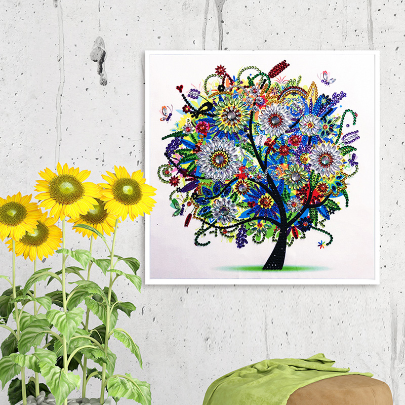 RUBOS DIY 5D Diamond Embroidery Colorful Tree Butterfly Bead Diamond Painting Cross Stitch Pearl Crystal Sale Hobby Gift Decor (16)