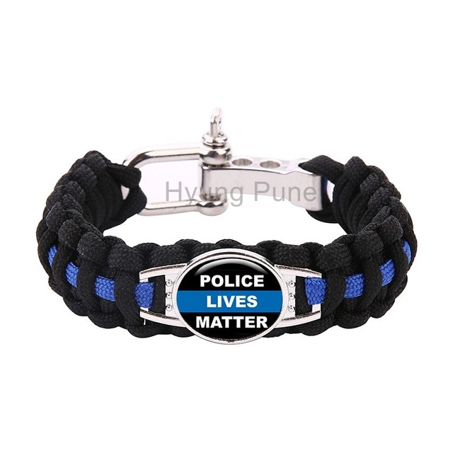 Blue Police Lives Matter Thin Line Paracord Survival Bracelet For Men Women Drop Shipping
