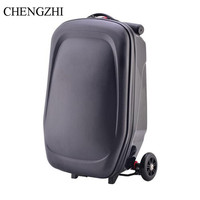 CHENGZHI High quality scooter Luggage teenager trolley case carry ons cabin travel suitcase on wheels